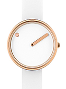 Picto 30 mm White/ Rosegold