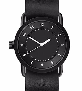 No.1 Black Leather <br>36 mm